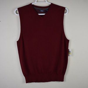 Size Medium V Neck Red Fieldhouse Sweater Vest NWT